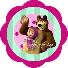 Masha and the Bear animated series Instant by WildFaeriesCratShop Bear Birthday, Minnie Birthday, 4th Birthday Parties, Party Kit, Party Packs, Marsha And The Bear, Filipino Art, Bear Party, Craft Shop