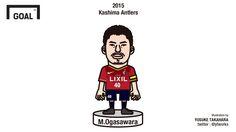 2015 | 小笠原満男 (鹿島アントラーズ) | Mitsuo Ogasawara (Kashima Antlers)
