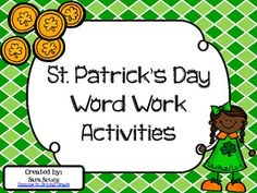St. Patrick's Day Word Work Activities {Freebie}