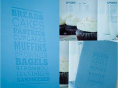 Product book for baked goods. Stromboli, Bagels, Brownies, Muffins, Sandwiches, Cupcakes, My Portfolio, Baked Goods, Book