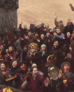 crowds at the quidditch...and Luna:)