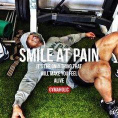 Smile At Pain It's the only thing that will make you feel alive. Dwayne The Rock Johnson http://www.gymaholic.co