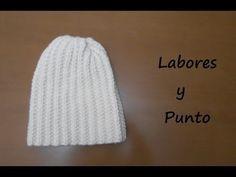 GORRO para HOMBRES tejido con dos agujas   415 - YouTube Hacer Gorro De  Lana 39bb4ebeb9d