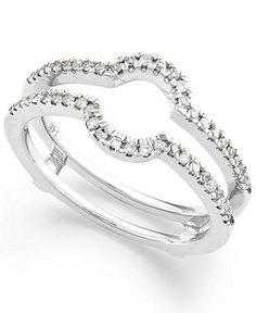 diamond ring 14k white gold diamond ring guard 14 ct tw - A Wedding Ring