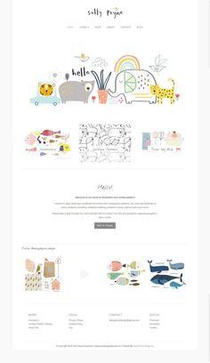 That of design - Web design gallery Portfolio Website Design, Website Design Layout, Web Layout, Kids Branding, Branding Design, Web Design Logo, Flat Design, Kids Graphic Design, Book Design