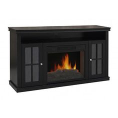 Decor Flame Fireplace, Black Product in Inches (L x W x H): 60.04 x 15.67 x 32.44  399.99