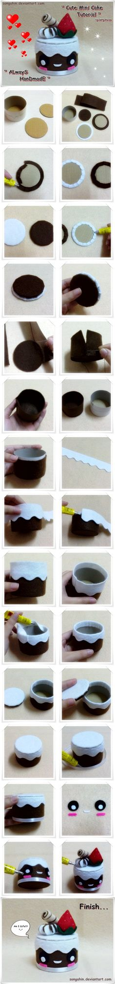 My Cute Mini Cake Box Tutorial by ~SongAhIn on deviantART