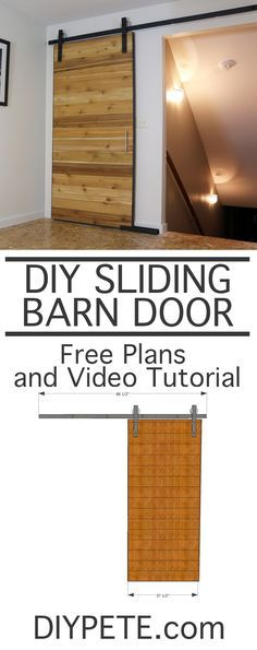 How to Make a Sliding Barn Door with DIY PETE. Free plans, a detailed tutorial, and video are available to help you build this project. The barn door is made out of cedar fence pickets and wrapped with steel.