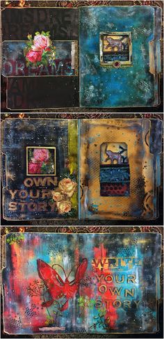Inspiration with the November 2015 StencilGirl StencilClub stencils designed by Seth Apter. Become a member today!