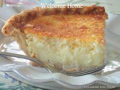 Welcome Home Blog: Mom's Coconut Custard Pie