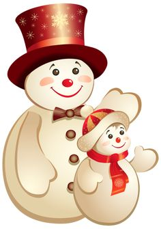 Cute_Snowmns_PNG_Clipart_Image.png