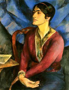 Friedrich Ahlers-Hestermann Porträt Anita Reé, 1915 Öl auf Leinwand, 90 x 70 cm Foto: Fotostudio Grünke Hamburg © VG Bild-Kunst, Bonn 2012
