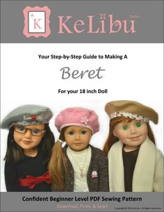"Beret hat pattern for 18"" dolls"