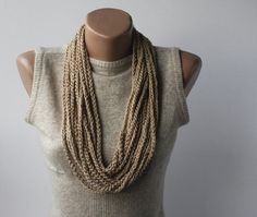 Skinny Scarf Necklace  vegan scarf  infinity by violasboutique, $12.00