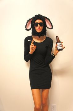 Black Sheep Funny Pun Adult Halloween Costume by DuelDesignShop Are you the blaaaaack sheep of your family? Wear this handmade sheep costume on your head this Halloween to own the title Costume Halloween, Creative Halloween Costumes, Happy Halloween, Original Halloween Costumes, Unique Costumes, Couples Halloween Costumes For Adults, Halloween Costumes Brunette, Terrifying Halloween, Halloween Recipe