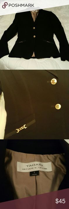NWOT Beautiful black blazer Gold embellishments on this black jacket are just enough to set it apart from all others. Beautifully tailored. Jackets & Coats Blazers