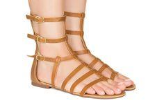 Rasteira gladiadora caramelo curta Taquilla - Taquilla - Loja online de sapatos femininos