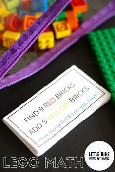 LEGO math kindergarten and early elementary
