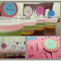 Rainbow Jello Eid Favor
