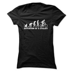 Evolution Of A Cyclist T Shirts, Hoodies, Sweatshirts. CHECK PRICE ==► https://www.sunfrog.com/Outdoor/Evolution-Of-A-Cyclist-T-Shirt-Ladies.html?41382