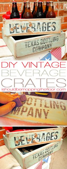 DIY Vintage Soda Crate Tutorial   Includes great painting/aging tips and more
