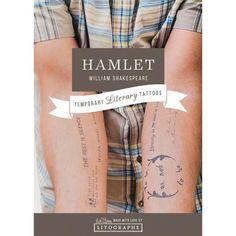 A temporary literary tattoo, inspired by Hamlet. Type Tattoo, Tattoo Set, Book Tattoo, Ankle Tattoo Small, Small Tattoos, Shakespeare Tattoo, William Shakespeare, The Rest Is Silence, Literary Tattoos