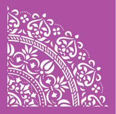 Bildresultat för stencil for decoupage Free Stencils, Stencil Diy, Stencil Patterns, Stencil Designs, Easy Mandala Drawing, Stencil Printing, Textures Patterns, Decoupage, Diy And Crafts