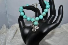 Turquoise beaded bracelet by jewelryandmorebykat for $15.00