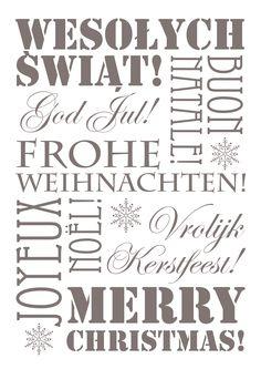 Pomysły na oryginalną dekorację wnętrz na święta. Świąteczne plakaty do wydrukowania. Jak ozdobić mieszkanie na święta? Dekoracje świąteczne, pomysły na plakaty.