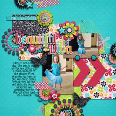 Digital Scrapbook Page by Britt | She's All That by Bella Gypsy