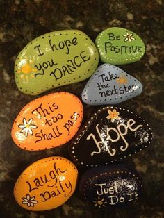 Inspiration stones - Create a positive reminder. These would be great to make after some nature meditation. They could then serve as a tool to remember that time of serenity and peace.