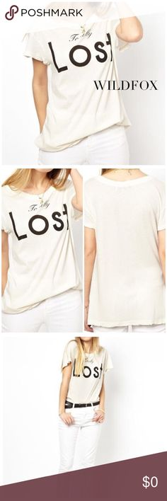 "WILDFOX Totally Lost Tee Wildfox! It's ok to be totally lost, so why not embrace it? Rock this uber soft Wildfox graphic tee wherever you're going! Size: S Approx. Measurements: Bust 31"", Waist 29"", Hip 39"", Length 30"". Material: 100% Cotton. SOLD OUT! Condition: Excellent. Wildfox Tops Tees - Short Sleeve"