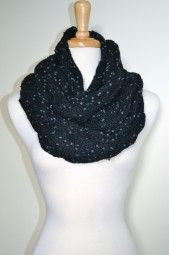 This glorious cable pattern chunky knit infinity scarf will not only keep you warm and cozy this season, it will add texture to your look from day-to-night. $39.99 Use code PINIT at checkout for 10% off your entire order.