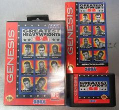 Greatest Heavyweights (Sega Genesis 1993) - Manual, Game, Case