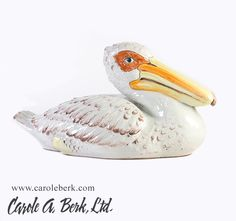 Italian ceramic large pelican, great detail and very heavy $395.