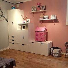 Girlsroom stuva IKEA Wondering about this for one of the walls and storage for the kids room Ikea Girls Bedroom, Baby Bedroom, Maila, Ikea Kids, Kids Corner, Little Girl Rooms, Kid Spaces, Boy Room, Room Girls