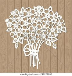 A template for laser cutting. Bouquet of flowers. For cutting from paper, wood, metal. Suitable for the design of wedding invitations, menus, scrapbooking. Paper Cutting Patterns, Paper Cutting Templates, Art Template, Flower Template, Laser Cut Paper, Globe Art, Silhouette Clip Art, Paper Artwork, Stencil Painting