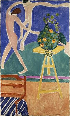 """Nasturtiums with the Painting """"Dance"""" I  1912 / Henri Matisse  (French, Le Cateau-Cambrésis 1869–1954 Nice)"""