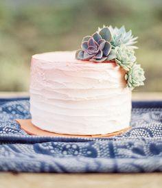 Simple ombré wedding cake example