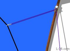 description of sailing off the wind and how to trim the jib sheet in a vertical direction specifically using what I am calling a twing Sailing Terms, Sailing Lessons, Camping Cooking Set, Boat Navigation, Mechanical Advantage, Weather Information, Let It Out, Wooden Boats, Boats