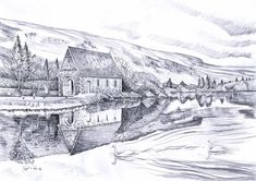 Items similar to Gougane Barra Co Cork Ireland on Etsy Irish Art, Cork Ireland, Celtic, How To Draw Hands, Drawings, Prints, Etsy, Outdoor, House Ideas