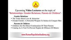 Topics of Video Lectures about Relationships. GENDER RELATIONS:  The Truth About Love & Attraction;  Female Clichés–A Powerful Weapon To Seduce & Conquer Men. PARENTS & CHILDREN: Children Are Not Direct Continuation Of Their Parents;  Catalog As A Tool To Prevent Neglect & Offenses Of Minors. #soulmate #dating #relationships #love