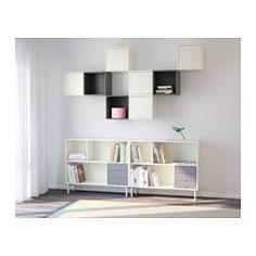 VALJE Reol, hvid, grå - hvid/grå - IKEA