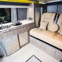 "Traditional ""Lux"" Conversions - New Wave Custom Conversions Vw T5 Interior, Campervan Interior, Interior And Exterior, Vw Camper Conversions, Vw Crafter, Campervan Ideas, Land Rover Defender, Camper Van, Motorhome"