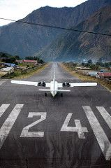 Lukla Airport take-off | by amd300466