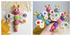 The Crochet Amigurumi Butterfly are super beautiful! Crochet Butterflies make a cute gift for newborns. You can also hang them up to make a baby mobile.
