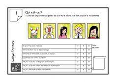 Rallye ecriture CE1 French Teacher, Alysse, Montessori, Periodic Table, Classroom, Grade 2, Teacher Stuff, Maths, Portrait
