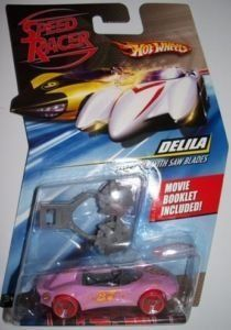 Speed Racer Pink Delila Hotwheel. Brand New and Factory Sealed Hot Wheel. These Speed Racer cars are the only cars that work on the Speed Racer Track sets.