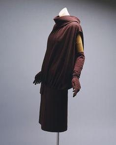 Day dress, 1955–56  Cristobal Balenciaga (Spanish, 1895–1972)  Wool