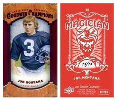 Joe Montana 2014 UD Goodwin Champions 70 Magician Back (Mini) (#14/14)